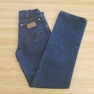 Vintage Wrangler Classic Boot Cut Blue Jeans 29x34